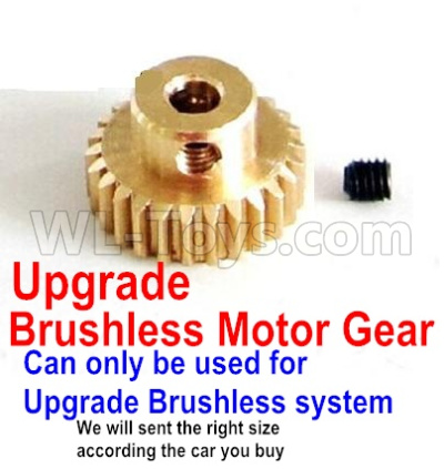Wltoys 12428-A Upgrade Motor gear(Can only be used for Upgrade Brushless set,We will according the car you buy to sent you the right version size)