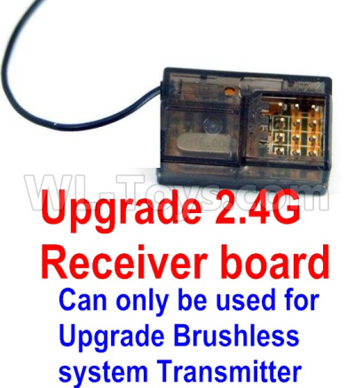 Wltoys 12428-A Upgrade 2.4G Receiver board(Can only be used for Upgrade Brushless set,You must buy the upgrade Transmitter together to use for Upgrade Brushless set)
