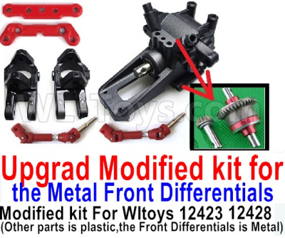 Wltoys 12428-A Upgrad Modified kit for the Metal Front Differentials-Option 1(Front Differentials assembly is Metal,other parts is plastic