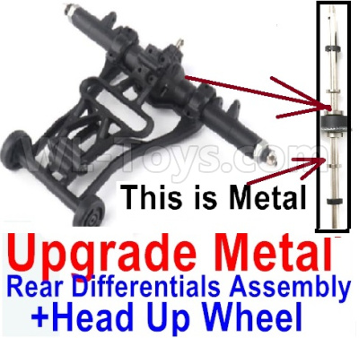 Wltoys 12428-A Upgrade Head up Wheel and Upgrade Metal Rear Differentials Assembly(Ordinary metal materials)