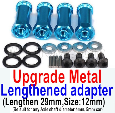 Wltoys 12428-A Upgrade Metal Lengthed adapter(4 set)-Lengthen 29mm