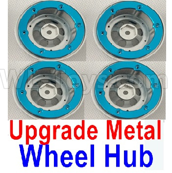 Wltoys 12428-A Upgrade Metal Wheel hub(4pcs)-Not include the Tire lether