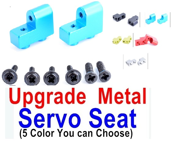 Wltoys 12428-A 12428A Upgrae Metal Servo Seat Parts,