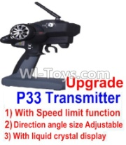 Wltoys 12428-A pgrade P33 Transmitter(With Speed Limit function,Direction angle size Adjustable,With liquid crystal display),Wltoys 12428-A Parts,1:12 Scale 4wd,2.4G 12428 rc racing car Parts,On Ro