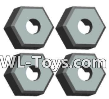 Wltoys 18428 Plastic Combination device, six angle wheel seat(4pcs)-0381,Wltoys 18428 Parts