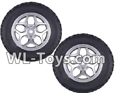Wltoys 18428 Whole wheel unit(2 set)-Black-0409,Wltoys 18428 Parts