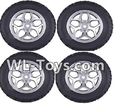 Wltoys 18428 Whole wheel unit(4 set)-Black-0409,Wltoys 18428 Parts