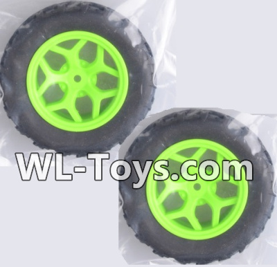 Wltoys 18428 Whole wheel unit(2 set)-Green-0464,Wltoys 18428 Parts