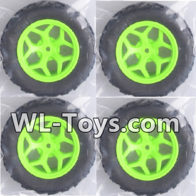 Wltoys 18428 Whole wheel unit(4 set)-Green-0464,Wltoys 18428 Parts