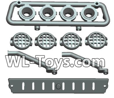 Wltoys 18428 Car Top light components-0412,Wltoys 18428 Parts