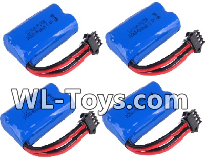 Wltoys 18428 Battery-6.4v 700mah Battery Parts(4pcs)-0449,Wltoys 18428 Parts