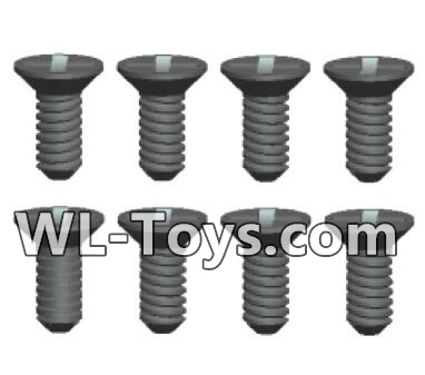 Wltoys 18428 Phillips Countersunk head screws Parts-ST2X5kB(8pcs)-0417,Wltoys 18428 Parts