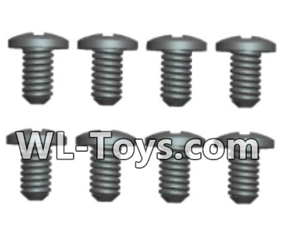 Wltoys 18428 Phillips Round head screws Parts-ST2X5PB(8pcs)-0419,Wltoys 18428 Parts