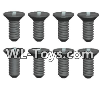 Wltoys 18428 Phillips Countersunk head Self-tapping screws Parts-ST2X6kB(8pcs)-0421,Wltoys 18428 Parts