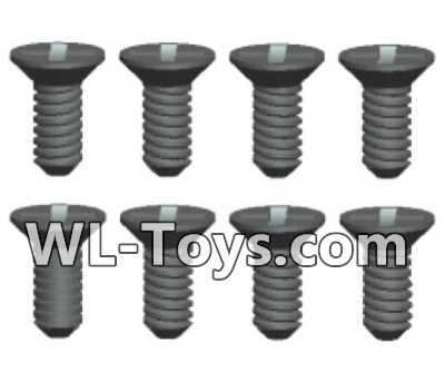 Wltoys 18428 Phillips Countersunk head Machine screws Parts-2X6kB(8pcs)-0422,Wltoys 18428 Parts