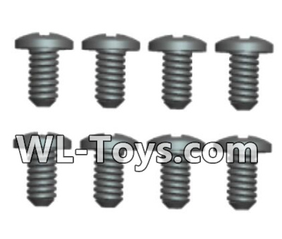 Wltoys 18428 Phillips pan head screws Parts-ST2X6PB(8pcs)-0423,Wltoys 18428 Parts