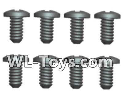 Wltoys 18428 0424 Phillips Round head Self-tapping screws Parts-ST2X8PB(8pcs),Wltoys 18428 Parts