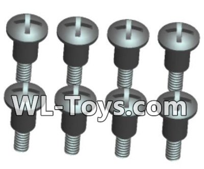 Wltoys 18428 0425 Phillips Round head Self-tapping Step half tooth screws Parts-ST2X8PB(8pcs),Wltoys 18428 Parts