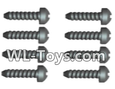 Wltoys 18428 0426 Phillips Round head Self-tapping screws Parts-ST2X10PB(8pcs),Wltoys 18428 Parts