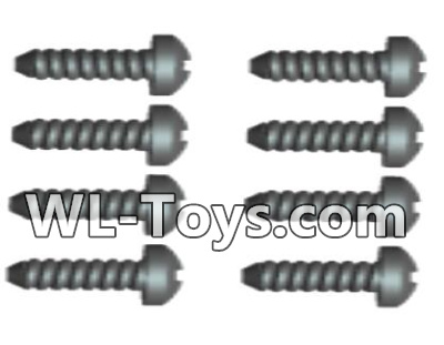 Wltoys 18428 0427 Phillips Round head Self-tapping screws Parts-ST2X12PB(8pcs),Wltoys 18428 Parts