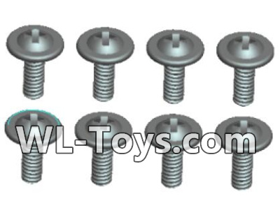 Wltoys 18428 0430 Phillips Round head With media screw-ST2.3X6PWB(8pcs),Wltoys 18428 Parts