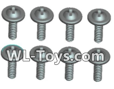 Wltoys 18428 0431 Phillips Round head Self-tapping screws Parts With media-ST2X10PWB(8pcs),Wltoys 18428 Parts
