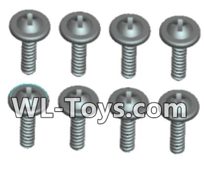Wltoys 18428 0432 Phillips Round head Self-tapping screws Parts With media-ST2X14PWB(8pcs),Wltoys 18428 Parts