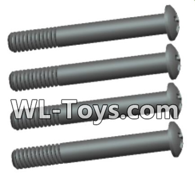 Wltoys 18428 0433 Phillips Round head lower half tooth screws Parts-ST2X16PB(4pcs),Wltoys 18428 Parts