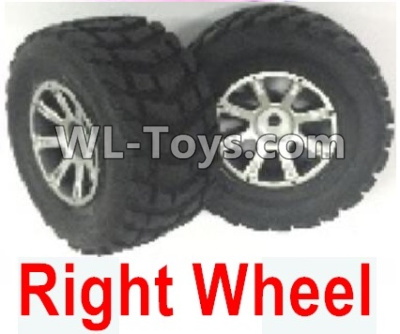 Wltoys 18403 0933 Whole Right wheel unit(Include the Wheel hub,tire lether)-2 set,Wltoys 18403 Parts