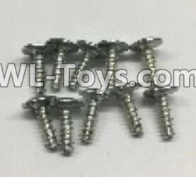 Wltoys 18403 0918 Round Head self tapping screws Parts with tape(M3x10PWA)-10pcs,Wltoys 18403 Parts