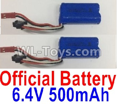 Wltoys 18405 Battery-6.4V 500mAh Battery Parts(2pcs)-0914,Wltoys 18405 Parts