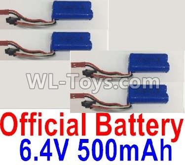Wltoys 18405 6.4V 500mAh Battery Parts(4pcs)-0914,Wltoys 18405 Parts