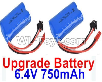 Wltoys 18405 Upgrade Battery Parts-6.4V 750mAh Battery Parts(2pcs)-52X32X16mm-0914,Wltoys 18405 Parts