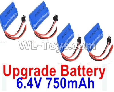 Wltoys 18405 Upgrade 6.4V 750mAh Battery Parts(4pcs)-52X32X16mm-0914,Wltoys 18405 Parts