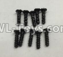 Wltoys 18405 Round Head self tapping screws Parts(M2x7)-10pcs-A949-39,Wltoys 18405 Parts