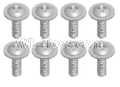 Wltoys 18628 Pan head screws Parts with Tape(8pcs)-ST2.3X8PWB-0676,Wltoys 18628 Parts