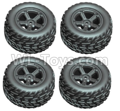 Wltoys 20409 Whole wheel unit(2x left and 2x Right)-0632,Wltoys 20409 Parts
