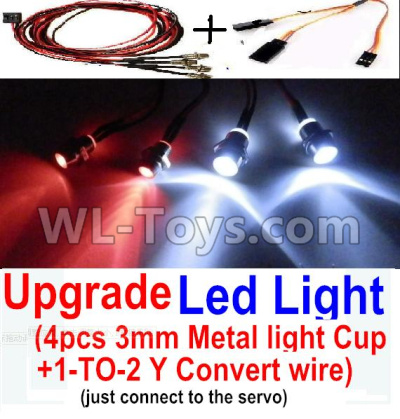 Wltoys 20409 0656 Upgrade LED Light set(Include the Upgrade LED light and 1-TO-2 Conversion wire),Wltoys 20409 Parts