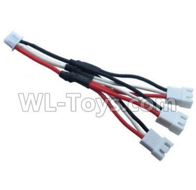 Wltoys 20409 Upgrade 1-to-3 coversion Charging cable,Wltoys 20409 Parts