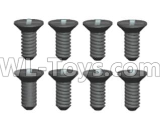 Wltoys 20409 0421 Countersunk head Cross recessed tapping Screws Parts(8pcs)-ST2X6KB,Wltoys 20409 Parts
