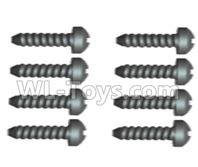 Wltoys 20402 0427 Cross recessed pan head Self-tapping Screws Parts(8PCS)-ST2X12PB,Wltoys 20402 Parts