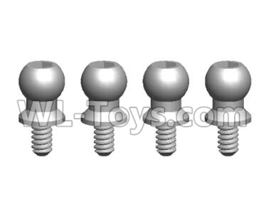 Wltoys 20409 0438 Ball Head Screw Assembly(4PCS)-4.5X9.2,Wltoys 20409 Parts