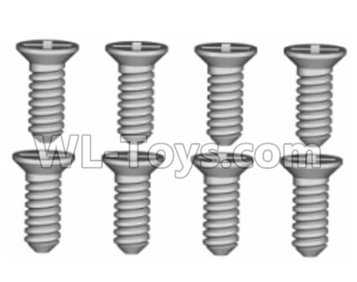 Wltoys 20409 0633 Cross recessed Flat head Self-tapping Screws Parts(8PCS)-ST1.7x4.5,Wltoys 20409 Parts