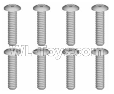 Wltoys 20409 0634 Cross recessed pan head Screws Parts(8PCS)-ST1.7x9PB,Wltoys 20409 Parts