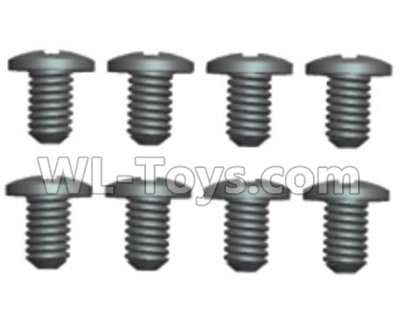 Wltoys 20402 0636 Round Head Machine Screws Parts(8pcs)-2X6PM,Wltoys 20402 Parts