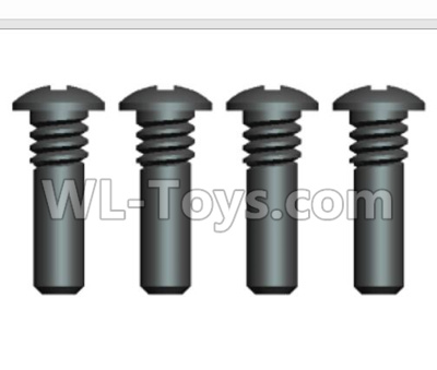Wltoys 20409 0637 Cross recessed pan head Screws Parts with Half tooth(4PCS)-ST2.3X7PB,Wltoys 20409 Parts