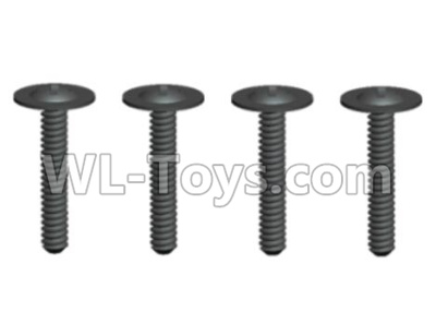 Wltoys 20409 0642 Round Head Screws Parts with cross media(4pcs)-ST2x12PWB6,Wltoys 20409 Parts