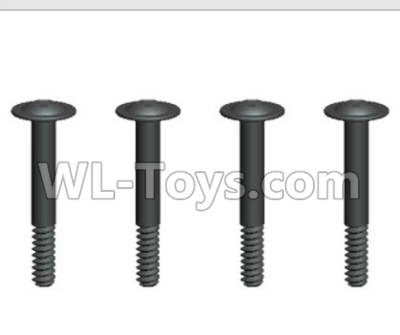 Wltoys 20409 0643 Round Head Machine Screws Parts with cross media and Lower half tooth(4pcs)-2x14PWB5,Wltoys 20409 Parts