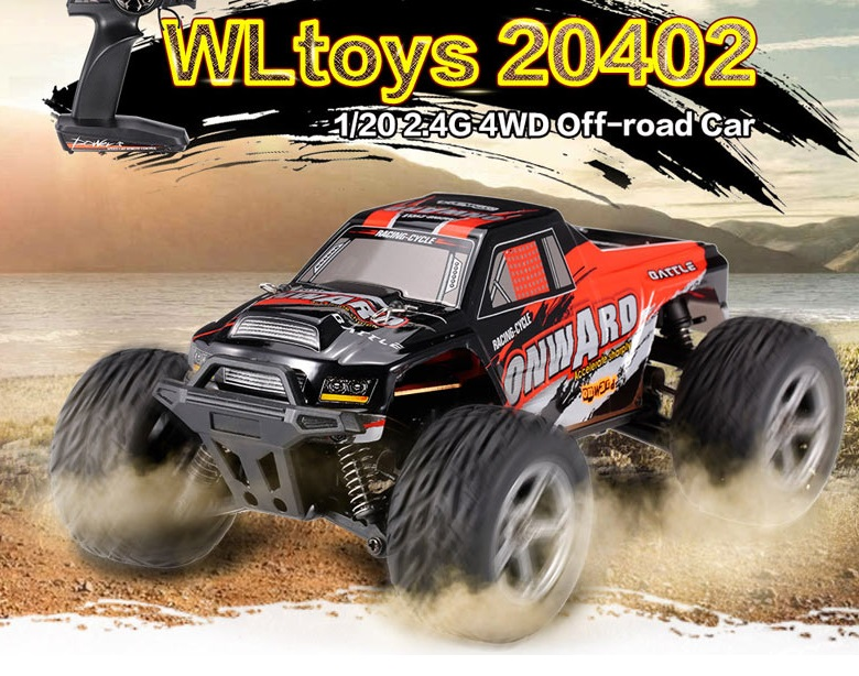 Wltoys 20402 rc Car Cross-country Electric SUV 4WD Monster Truck Racing Car 1:20-car-all Off-road Desert RC Rock Crawler Wltoys-Car-All