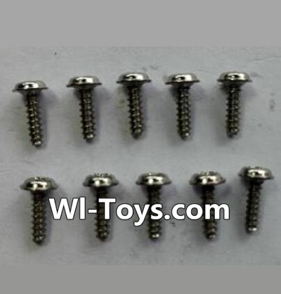 Wltoys 24438 Round-head Self-tapping screws Parts with a mediator(10pcs)-(ΦM1.7×6),Wltoys 24438 Parts